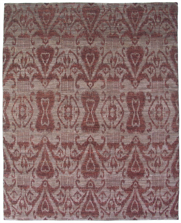 New Pakistan Hand-woven Antique Reproduction of 19th Century Ikat Textile Carpet    8'2