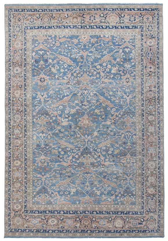 New Pakistan Hand-Knotted Antique Recreation of 19th Century Persian Sultanabad   10'5