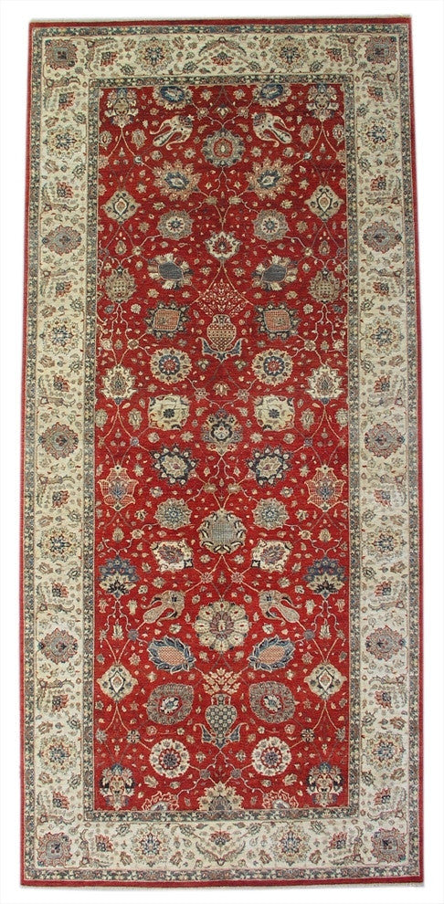 New Pakistan Hand-woven Antique Reproduction of a 19th Century Persian Tabriz Carpet    6'1