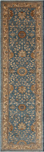 "New Pakistan Hand-Knotted Antique Recreation of Antique Persian Ferahan    2'8""x 9'7"""