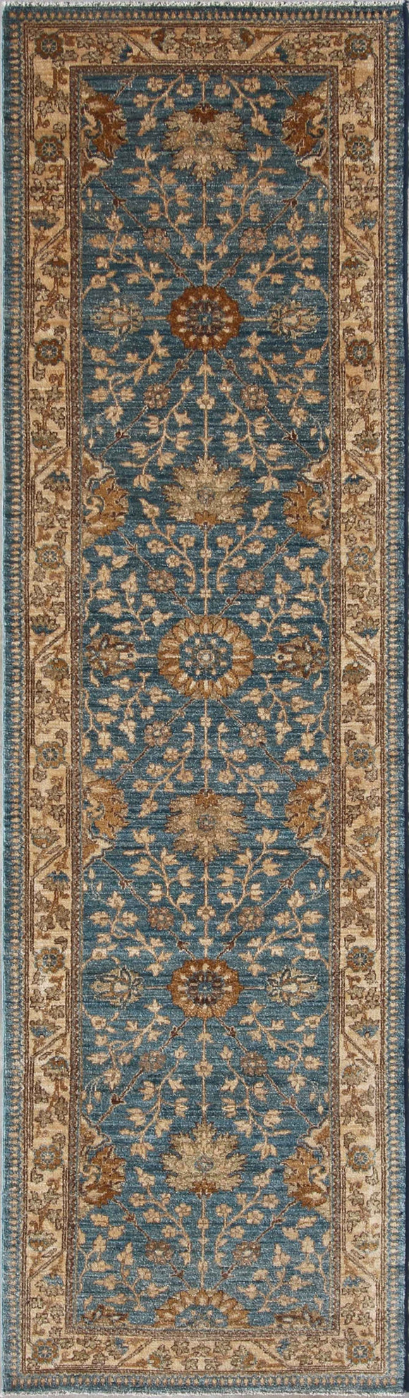 New Pakistan Hand-Knotted Antique Recreation of Antique Persian Ferahan    2'8