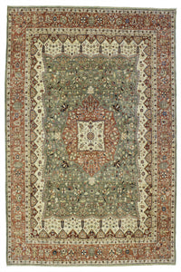 New Pakistan Hand-woven Antique Reproduction of a 19th Century Persian Ferahan   9'x 11'5""
