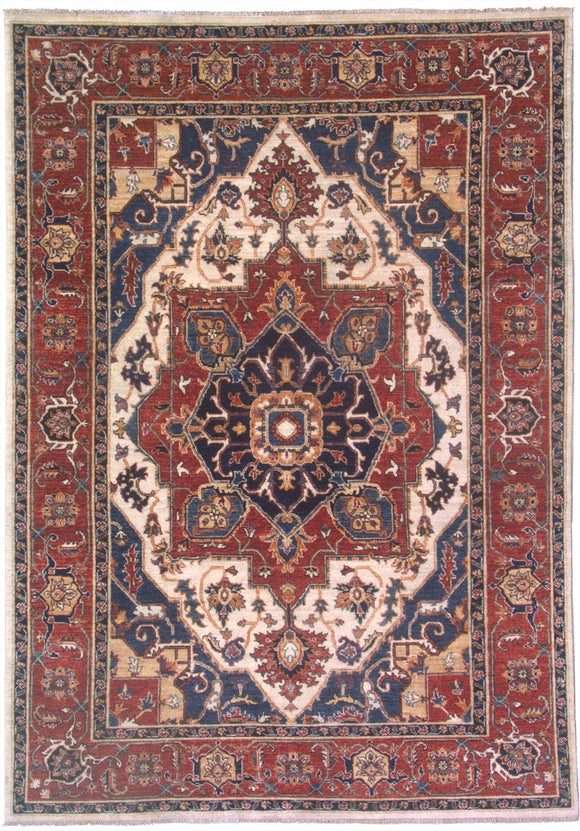 New Pakistan Hand-woven Antique Reproduction of a 19th Century Persian Serapi Rug   SOLD