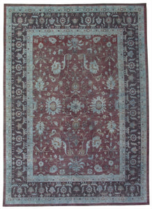 "New Pakistan Hand-woven Antique Reproduction of a 19th Century Persian Carpet     8'10""x 12'4"""
