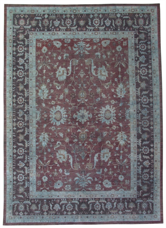 New Pakistan Hand-woven Antique Reproduction of a 19th Century Persian Carpet     8'10