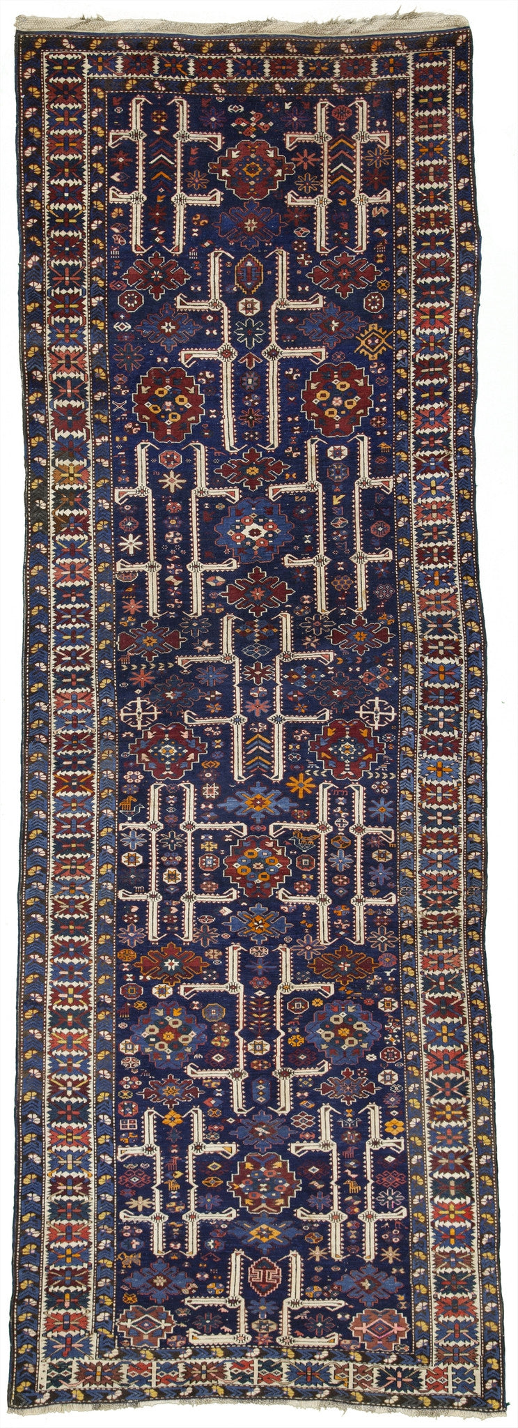 Antique Caucasian Kuba Tribal Rug Runner