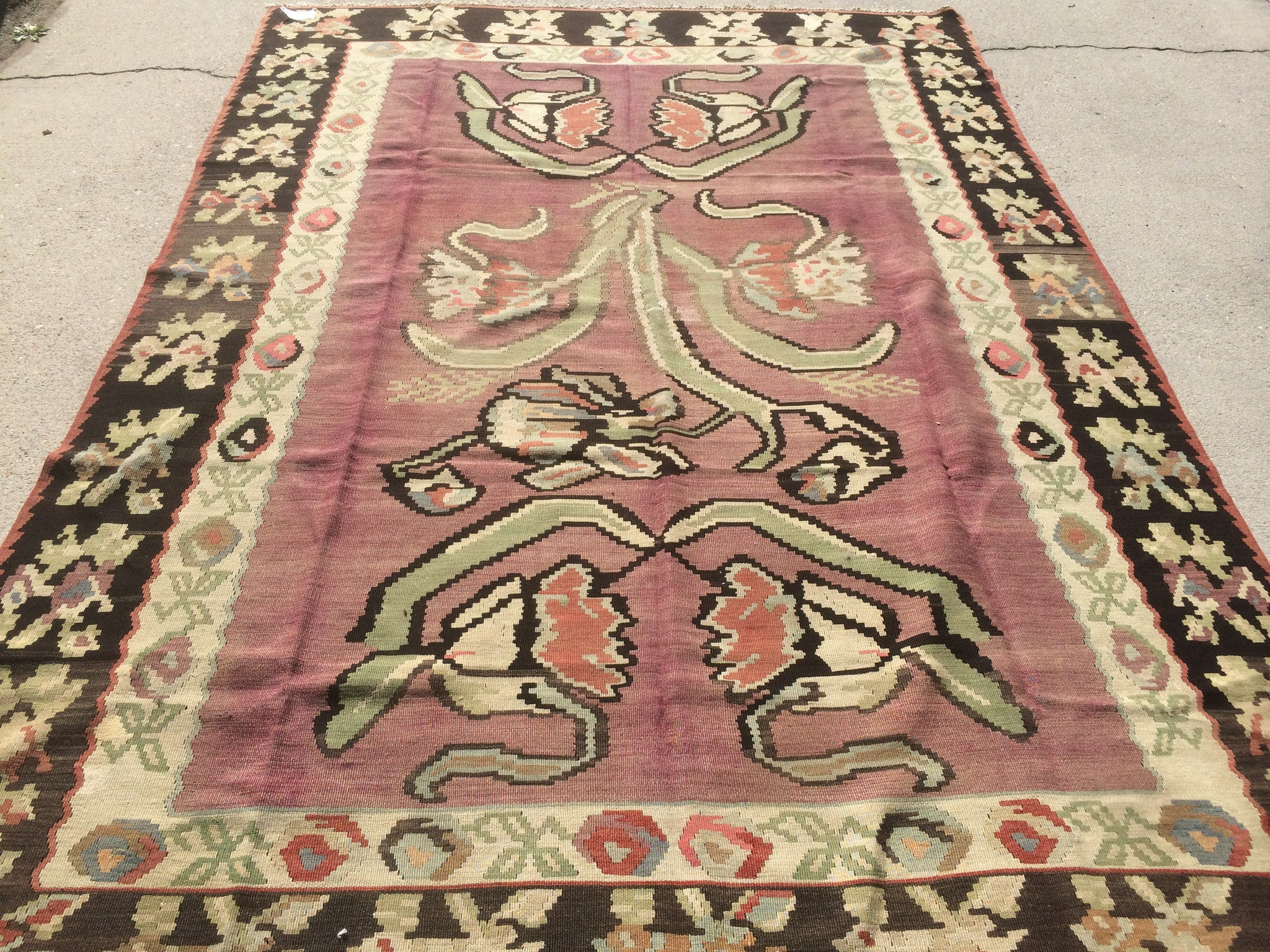 Vintage Turkish Bessarabian Kilim   SOLD