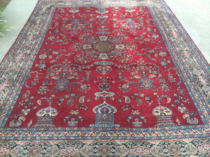 "Antique Persian Kerman             8'6""x 11'5"""
