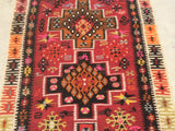 "Vintage Turkish Kilim Runner  12'5""x 3'4 SOLD"