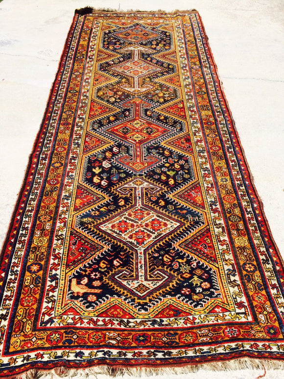 Antique Persian Tribal Luri Runner Dated 1916          4'6