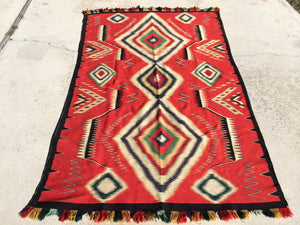 Antique German Town Navajo Rug Rare  SOLD