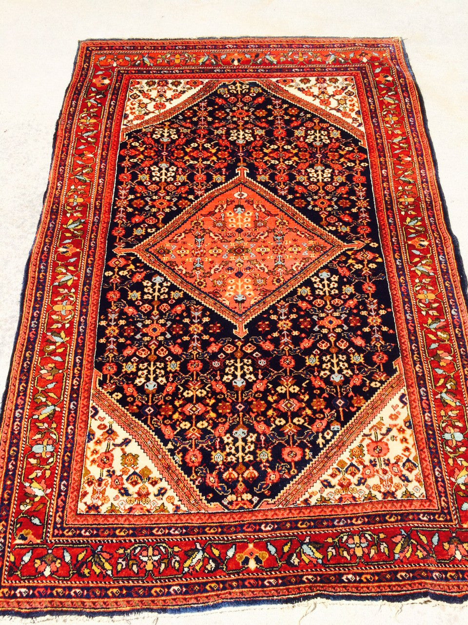"Antique Persian Ferahan Village Rug                 4'3""x 6'6"""