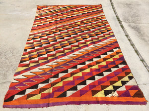 Antique Transitional Navajo Rug in Need of Restoration    SOLD!