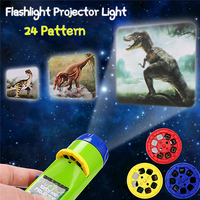 Flashlight Educational Toy  with 4 Slide Discs
