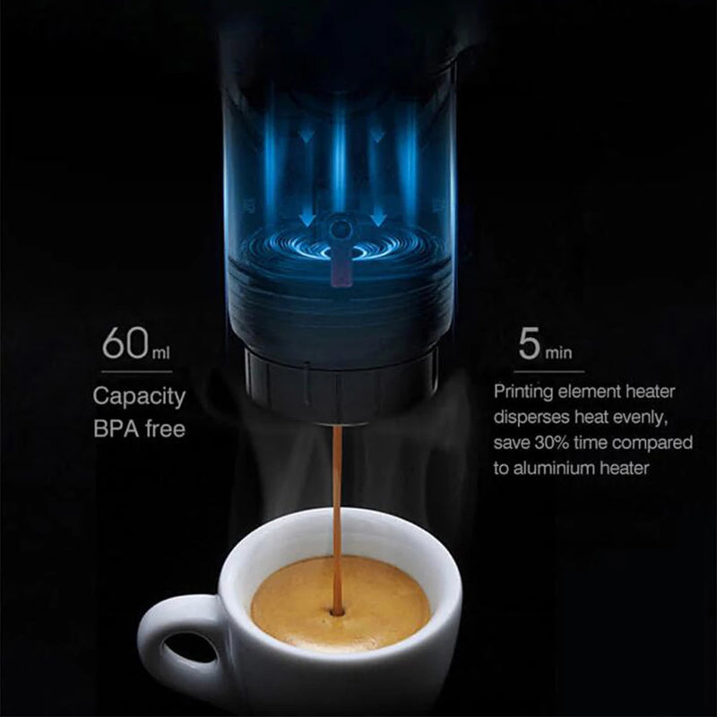 Portable Car Coffee Espresso Machine 12 V : A Battery Operated Coffee Maker