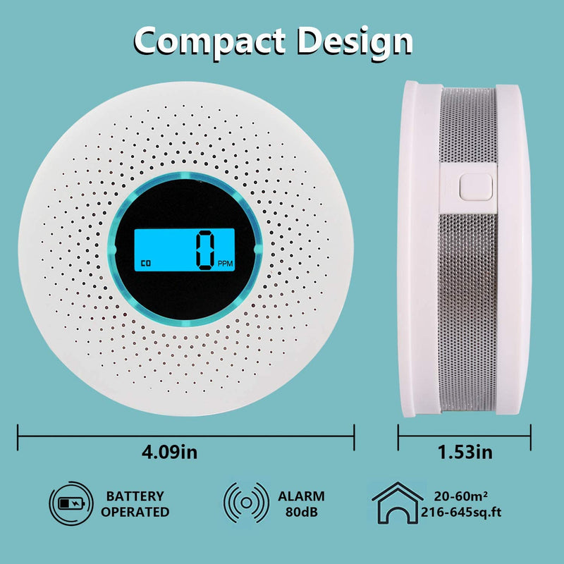 Smoke and Carbone monoxide detector : Rechargeable and Portable