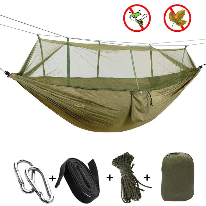 Portable Ultralight Hammock With Mosquito Net for Camping