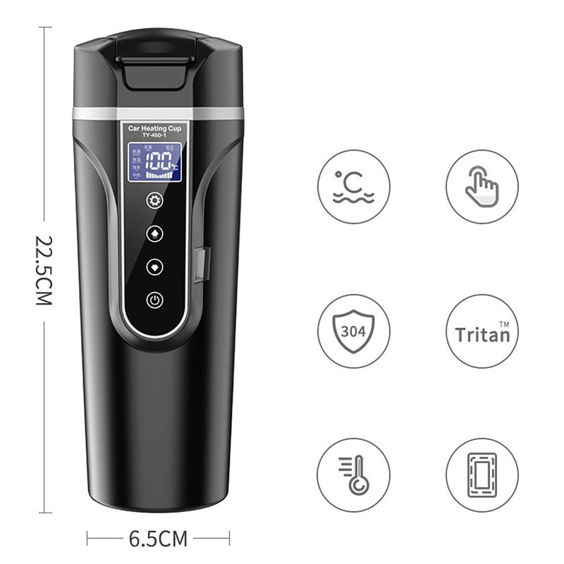 Smart Touch Screen Heating Cup for Car