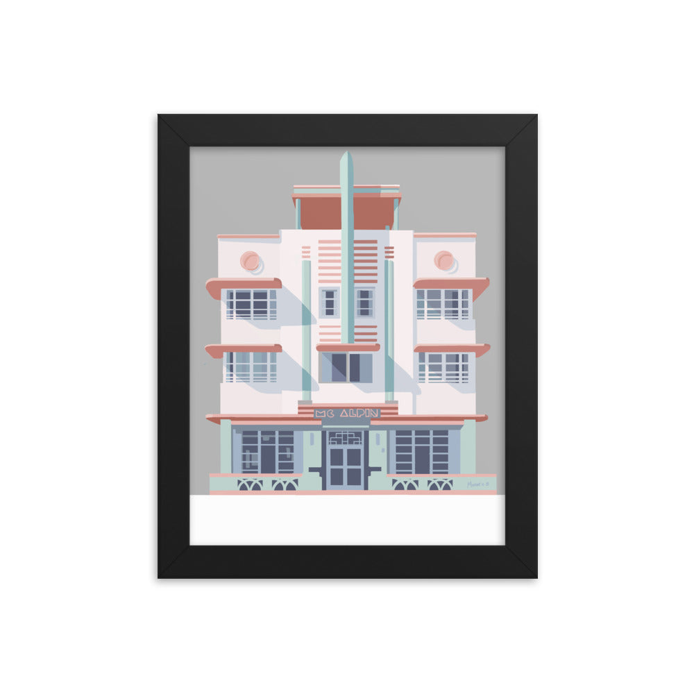 McAlpin Hotel Miami Beach - Framed Poster