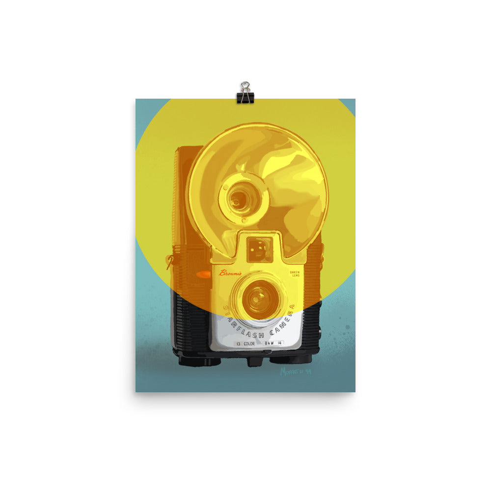 Kodak Brownie Starflash Camera Poster - Vertical