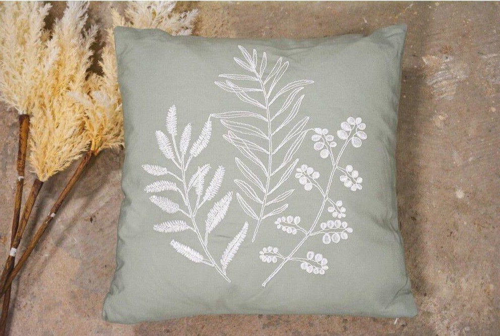 Olive Cushion - With Inner Filling