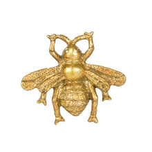 Load image into Gallery viewer, Golden 'Manchester Bee' Drawer Knob