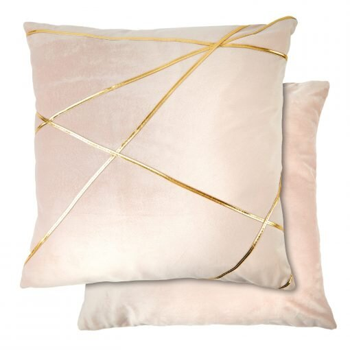 Geometric Cushion in Blush Pink - With Inner Filling