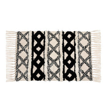 Load image into Gallery viewer, Black and White Boho Rug