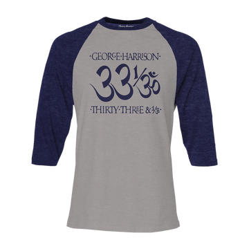 33 1/3 Navy/Heather Grey Raglan - George Harrison Shop
