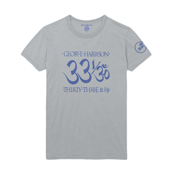 33 1/3 Silver Unisex Tee - George Harrison Shop