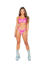 Sequin Bikini Bottom - Small / Hot Pink