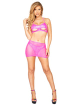 Sheer Mesh Skirt - Small/Medium / Hot Pink