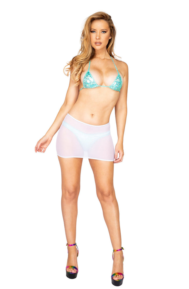 Sheer Mesh Skirt - Small/Medium / White