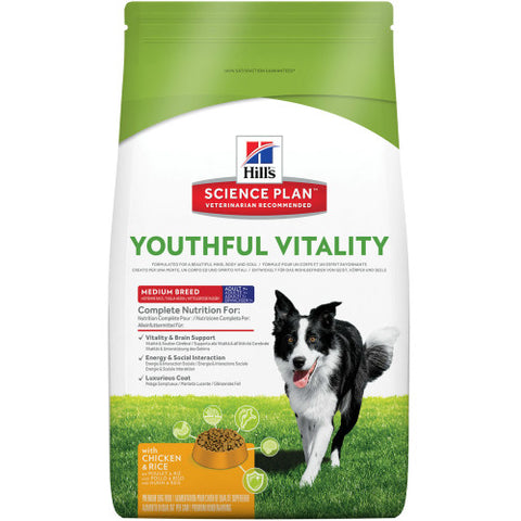 Hill´s Science Plan Canine Adult 7+ Youthful Vitality Medium Breed mit Huhn und Rice