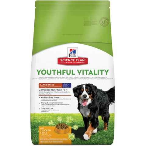 Hills Canine Adult 5+ Youthful Vitality Large Huhn und Reis 10kg