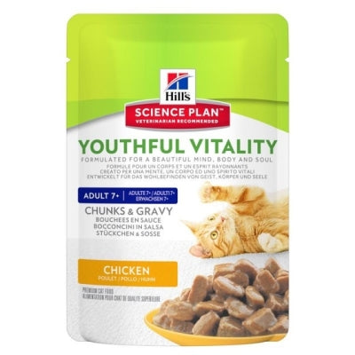 Hill's Science Plan Feline Adult Youthful Vitality Adult 7+ Huhn und Reis 85 g