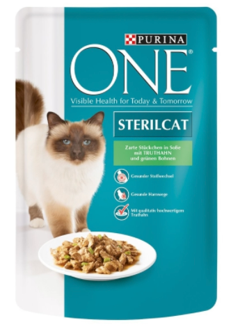 Purina ONE PB Steril.Truthahn&Bohnen 85g