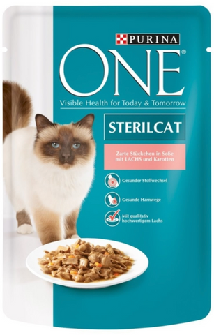 Purina ONE PB Steril.Lachs&Karotten 85g