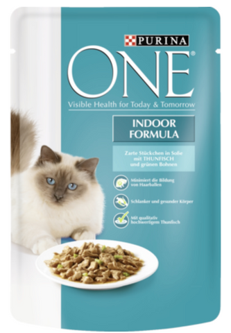 Purina ONE PB Indoor Thunf.&Bohnen 85g