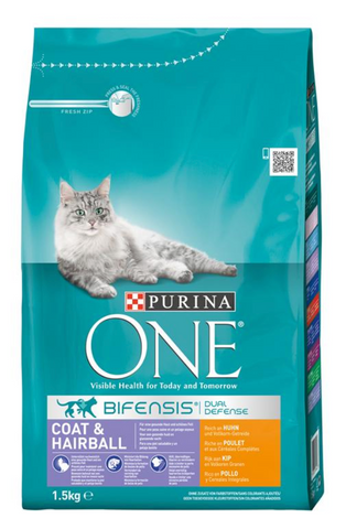Purina ONE Bif.TR Coat&Hairball Huhn 1,5kg