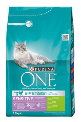 Purina ONE Bif.TR Sensitive Truthahn 1,5kg