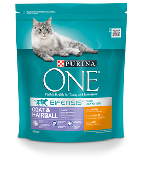 Purina ONE Bif.TR Coat&Hairball 800g