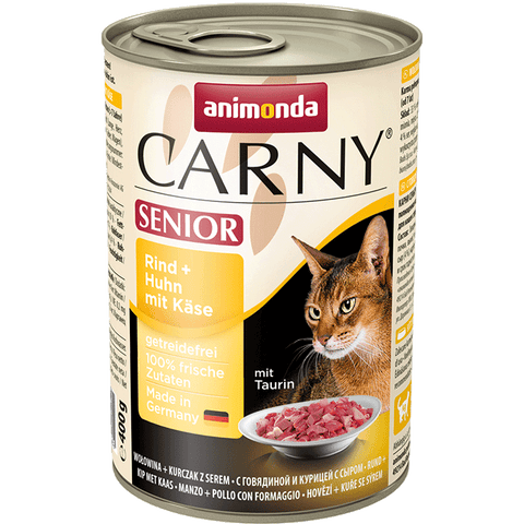 Animonda Cat Carny Senior - Rind + Huhn mit Käse