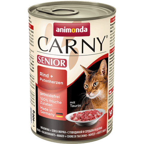 Animonda CAT Carny Senior - Rind + Putenherzen