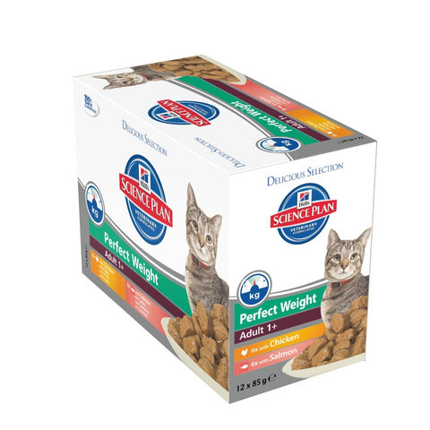 Hill´s Science Plan Feline Adult 1+ Perfect Weight Katzen Diätfutter 12 X 85g