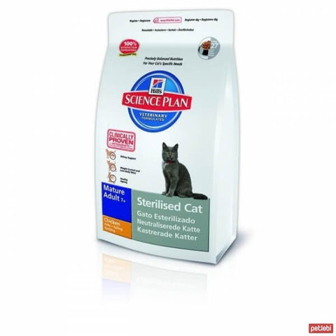 Hill's Science Plan Feline Sterilised Cat Mature 7+ Huhn Katzentrockenfutter 1.5kg