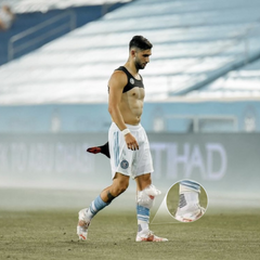 NYCFC soccer player wearing maestro sox