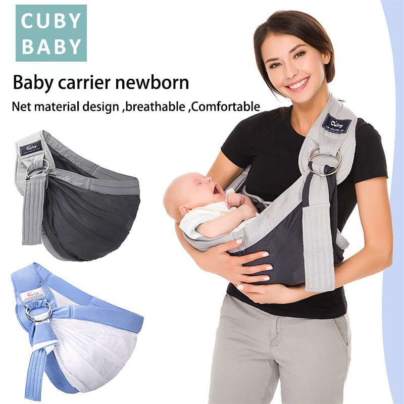 Newborn baby sling wrap carrier