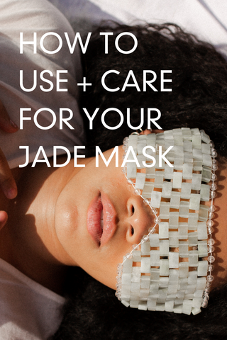 jade mask. eye mask. sleep mask. meditation tools. how to relax. skincare routine. tips to relax the mind. relaxing facial muscles. jade mask guide. are jade masks good.