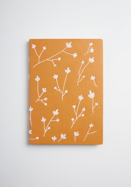 Brainstorming in Blossoms Embroidered Notebook